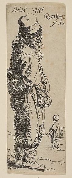 "A Peasant Replying: ""Dats niet"" Rembrandt (Rembrandt van Rijn)  (Dutch, Leiden 1606–1669 Amsterdam) Date: 1634 Medium: Etching Classification: Prints Credit Line: Gift of Felix M. Warburg and his family, 1941 Accession Number: 41.1.64"