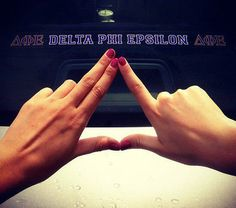 delta phi epsilon sorority throw what you know #deepher #dphie