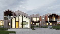 Children´s home for the future - by CEBRA. Nominated to the Mies van der Rohe 2015, it is a 24h child care center in Kerteminde, Dinamarca.