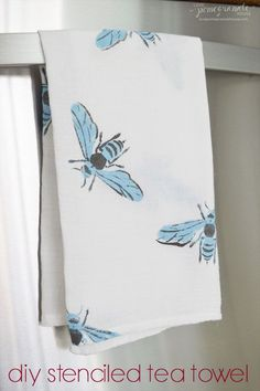 DIY Stenciled Tea Towel  ||  Love, Pomegranate House
