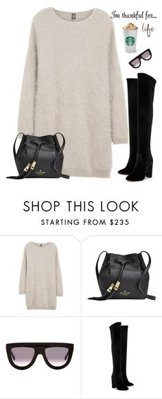 """Untitled #328"" by maylamartha on Polyvore featuring Eleventy, Kate Spade, CÉLINE, Aquazzura and imthankfulfor"