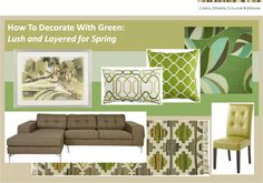 New Blog Post: Use Green Like Mother Nature Does To Create A Spring-Fresh Look You'll Love Year-Round
