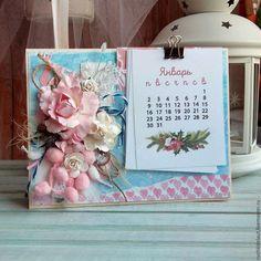 Купить Настольный Календарь Розовая Мечта - календарь, настольный календарь, новогодний декор, интерьер, в подарок