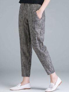 ninacloak.com Floral Print Pants, Elastic Waist Pants, Plain Shirts, White Casual, Women's Summer Fashion, Casual Pants, Pants For Women, Pure Products, Shopping