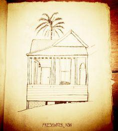 Chantal Vincent Art Little Houses Sketchbook
