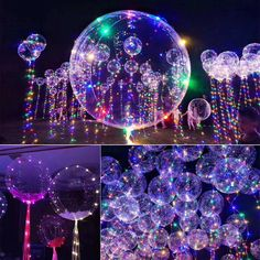 Light Up Balloons, Balloon Glow, Led Balloons, Balloon Lights, Led String Lights, Floating Balloons, Light String, Wedding Balloon Decorations, Wedding Balloons