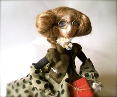 Art Doll  Student  OOAK  Handmade   art doll   soft by JRlele on Etsy