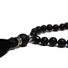 Om- agate yoga mala necklace, Energies: Protection #mala #malas #necklace #yoga #agate #satnam