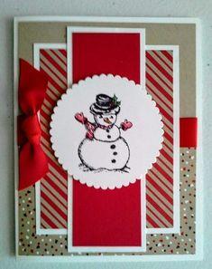 Christmas cards handmade design ideas 1 - Karten I-K - christmas Simple Christmas Cards, Beautiful Christmas Cards, Homemade Christmas Cards, Christmas Paper, Xmas Cards, Homemade Cards, Handmade Christmas, Holiday Cards, Christmas Crafts