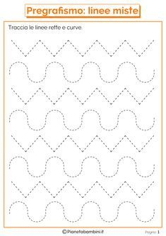 Trace the Dotted Lines Worksheets for Kids - Preschool and Kindergarten Preschool Writing, Preschool Curriculum, Preschool Printables, Kindergarten Worksheets, Worksheets For Kids, Alphabet Tracing Worksheets, Shapes Worksheets, Tracing Letters, Pre Writing