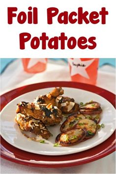 Foil Packet Potatoes! {Easy Camping Recipe} #foilpackets #camping #recipes