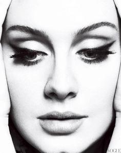 Adele's makeup