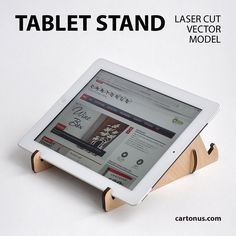 Tablet stand lasercut FREE vector model