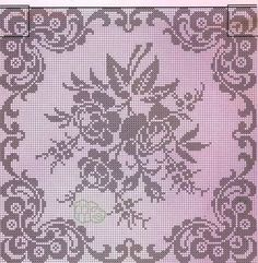 Crochet Edgings Design Kira crochet: Crocheted scheme no. Filet Crochet Charts, Crochet Borders, Crochet Cross, Crochet Motif, Crochet Patterns, Crochet Edgings, Cross Stitch Rose, Cross Stitch Flowers, Beaded Embroidery