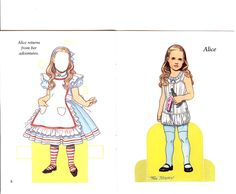 PAPER DOLL  111909- ALICE 05  Alice in Wonderland by Tom Tierney
