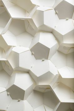 Paper Engineering by Benja Harney Decoration Restaurant, Instalation Art, Platonic Solid, Paper Engineering, Grid Design, Design Art, Interior Design, Pattern Paper, Paper Patterns