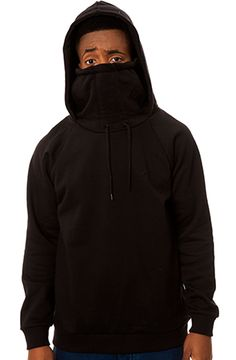 The Kino Ninja Hoodie in Black Fleece by ARSNL