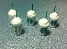 5 Miniature Iced Coffee Starbucks Cups Plastic by thaicraftvillage, $8.00