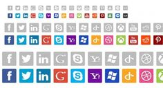 16 Amazing Social Media Icons Pack PSD - http://www.dawnbrushes.com/16-amazing-social-media-icons-pack-psd/