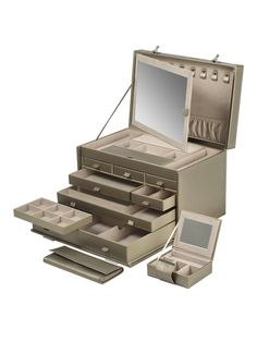 Queen's Court Bronze Extra Large Jewelry Case by Wolf Designs Inc. at Gilt