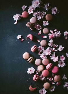 Cherry Blossom Macarons with Black Sesame via Kathrin Koschitzki - Kinfolk #recipe