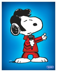 Elvis Snoopy!! Thank you, Thank you very much.