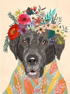 Custom Pet Portrait by MiaCharro on Etsy Dog Portraits, Portrait Art, Portrait Illustration, Dog Illustration, Animal Photography, Equine Photography, Dog Art, Cartoon Art, Painting Inspiration