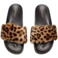 Slides with leopard-print faux fur at top. Rubber insoles and soles. Leopard Shoes Outfit, Leopard Print Outfits, Leopard Loafers, Leopard Print Shoes, Animal Print Outfits, Animal Print Fashion, Leopard Prints, Motif Leopard, Motifs Animal