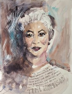 Be inspired by the Nobel laureate in literature Female Portrait, Portrait Art, Portraits, Creole Queen, Silver White Hair, Toni Morrison, Beauty In Art, Wise Women