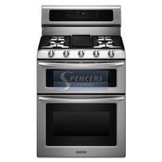 KitchenAid stove and double oven.    I want this...I want I want!!!!
