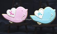 Love Bird Decorated Cookies