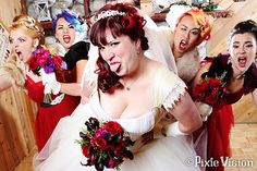 Sheyne & Glenn's scientific Victorian steampunk octopus wedding | Offbeat Bride