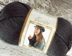 NEW Bernat Satin #Yarn stone gray grey acrylic 100g 3.5oz  medium weight fiber #knitting #crochet