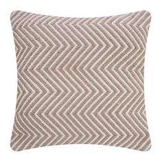 Hug Rug - Herringbone Recycled Cushion - Rose x Pink Cushions, Printed Cushions, Velvet Cushions, Decorative Cushions, Bluebellgray, Pink Tone, Cotton Velvet, Herringbone, Needlepoint