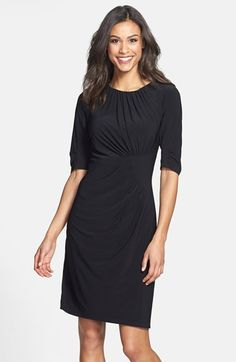 Adrianna Papell Pleated Matte Jersey Sheath Dress (Online Only) available at #Nordstrom