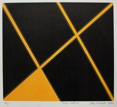 John Edwards - Black Lattice  Lithograph 1969 available on www.retrosixty.co.uk  #modernbritish #art