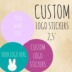 A personal favorite from my Etsy shop https://www.etsy.com/listing/243838054/custom-logo-sticker-personalized-labels