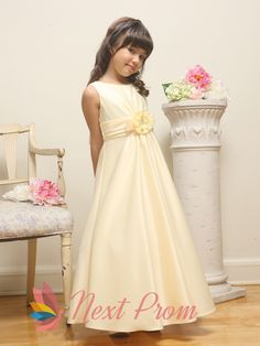 flower girl dresses for less,satin flower girl dress,champagne flower girl dresses, $62.00