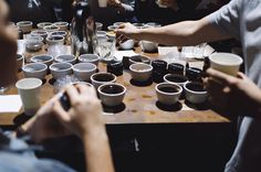 Tasting the new SCAA Flavour Wheel - hosted by Single Origin Roasters @single_o Sydney. Beautiful event with beautiful people.  Loving to study the international common language used by the coffee producers purchasers roasters and drinkers.  I'm no expert but digging the experience.  Yozo