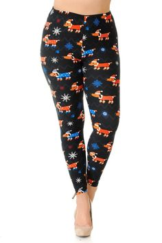 f3674189a52ef2 Experience Puppy Love this Christmas with our Brushed Christmas Puppy Dogs  in PJ's Leggings! Printed