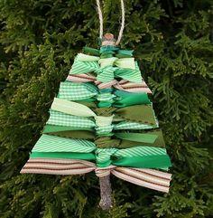 Scrap Ribbon Tree DIY Ornament | Stunningly Beautiful DIY Homemade Christmas Ornaments