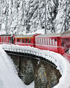 Train at Montreux, Switzerland.