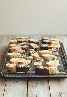 chocolate-dipped hazelnut orange biscotti//