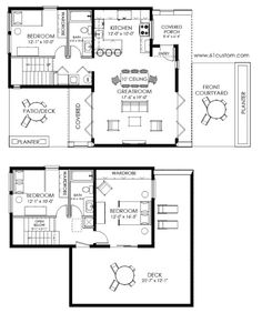 A little reconfiguring, but I like the layout.  Master Bedroom on first floor needs work