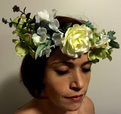 Wild roses floral crown by dahliasanddaydreams on Etsy https://www.etsy.com/listing/264436398/wild-roses-floral-crown