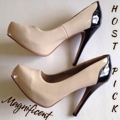 """Host Pick Black & Nude Color Block Style Heels These heels are fabulous, they go with so many outfits.  There is a thin line on the inside of left side, along with a thin line & scuff on outside of right side, as shown in pic 4.  They have a 5' heel.  Host Pick """"It Girl Party"""" on August 1, 2015 Charlotte Russe Shoes Heels"""