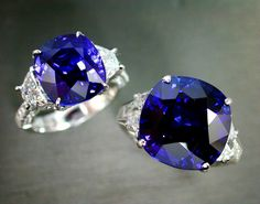 The Fine Blue Sapphire is elegantly set in Ring with sparkling half moon cut…