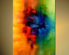 Abstract Canvas Print  Stretched Embellished & Ready-to-Hang