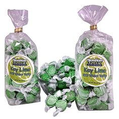 NomNom Delights Gourmet Salt Water Taffy 2 Bags Huckleberry or Key Lime Flavors Key Lime * For more information, visit image link.