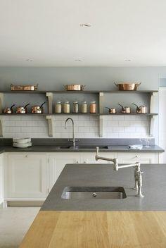 idée de déco de cuisine en bois de style rétro